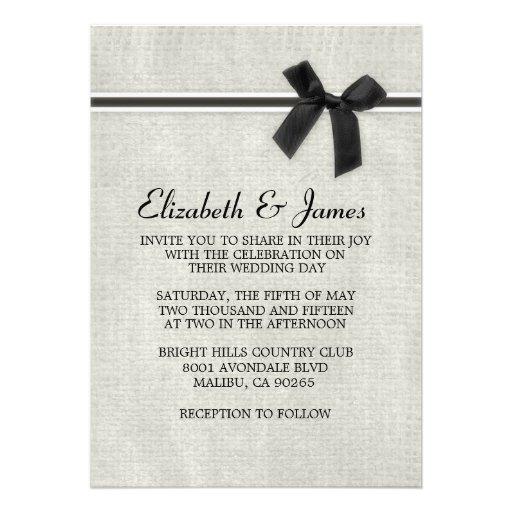 Invitaciones rústicas negras y blancas del boda de comunicados
