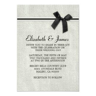 Invitaciones rústicas negras y blancas del boda de invitación 12,7 x 17,8 cm