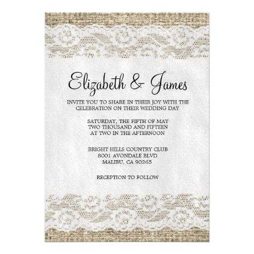 Invitaciones rústicas negras y blancas del boda de comunicados personales