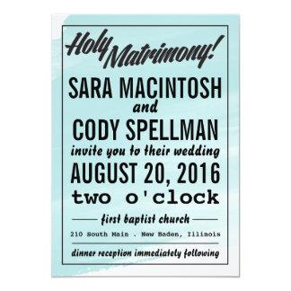 Invitaciones santas del matrimonio invitación 12,7 x 17,8 cm
