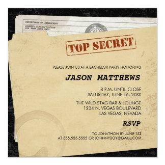 Invitaciones secretísimas divertidas de la invitación 13,3 cm x 13,3cm