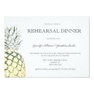 Invitaciones simples de la cena del ensayo de la