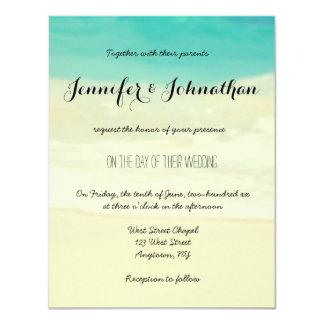 Invitaciones simples del boda de playa