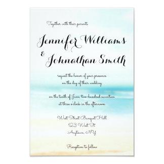 Invitaciones simples del boda del destino de la