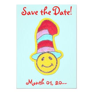 Invitaciones sonrientes felices de la cara invitación 12,7 x 17,8 cm