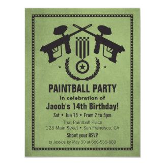 Invitaciones sucias modernas de la fiesta de invitación 10,8 x 13,9 cm
