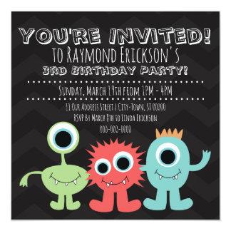 Invitaciones temáticas de la fiesta de cumpleaños
