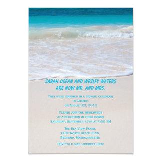 Invitaciones temáticas de la recepción del boda invitación 12,7 x 17,8 cm