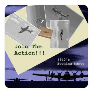 invitaciones temáticas del fiesta de los años 40 invitación 13,3 cm x 13,3cm