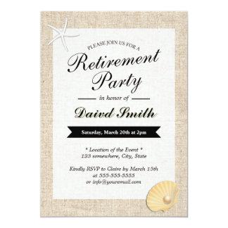 Invitaciones temáticas del fiesta de retiro de la anuncios