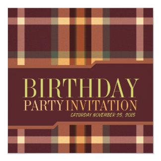 Invitaciones terrosas de la fiesta de cumpleaños