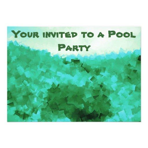 Invitaciones tranquilas de la fiesta en la piscina comunicados personales
