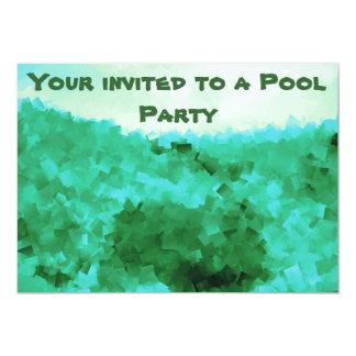 Invitaciones tranquilas de la fiesta en la piscina invitación 12,7 x 17,8 cm