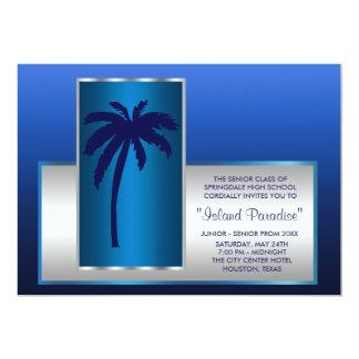 Invitaciones tropicales del baile de fin de curso invitación 12,7 x 17,8 cm