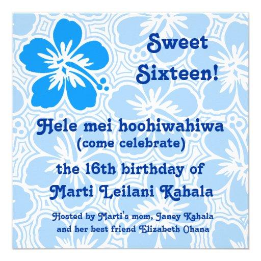 Invitaciones tropicales del hibisco de Kono Invitaciones Personalizada