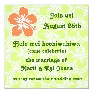 Invitaciones tropicales del hibisco de Kono Comunicados Personalizados
