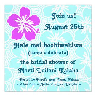 Invitaciones tropicales del hibisco de Kono Invitacion Personal