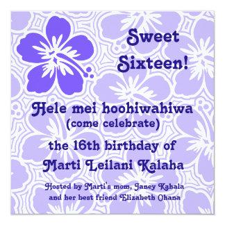 Invitaciones tropicales del hibisco de Kono Invitación