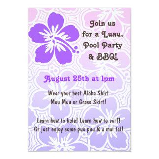 Invitaciones tropicales del hibisco de Kono Invitación Personalizada