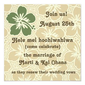 Invitaciones tropicales del hibisco de Kono Invitaciones Personales