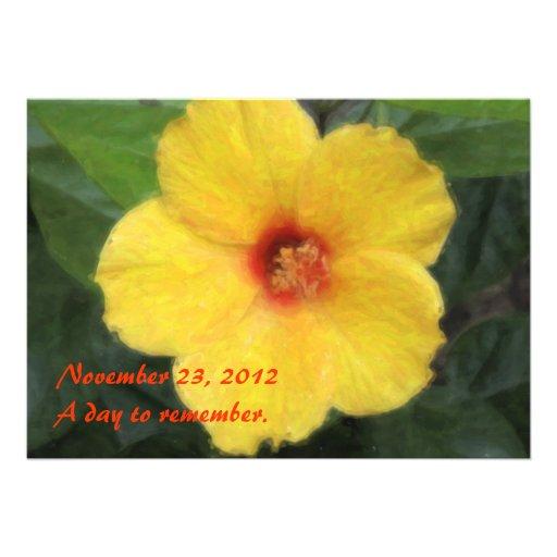 Invitaciones tropicales hawaianas del hibisco invitaciones personalizada