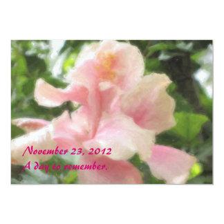 Invitaciones tropicales hawaianas del hibisco anuncio