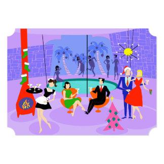 Invitaciones tropicales retras del día de fiesta invitación 12,7 x 17,8 cm