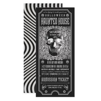 Invitaciones v.3 del boleto de la casa encantada