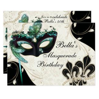 Invitaciones venecianas del fiesta de la mascarada