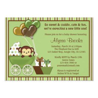 Invitaciones verdes de la fiesta de bienvenida al invitación 12,7 x 17,8 cm