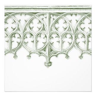Invitaciones verdes del boda de la catedral del ve anuncios personalizados