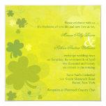 Invitaciones verdes del boda de los tréboles comunicados