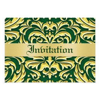 Invitaciones verdes del día de fiesta del metal de