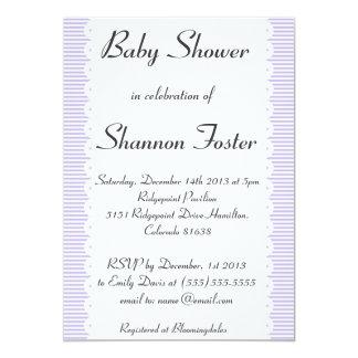 Invitaciones violetas de la fiesta de bienvenida invitación 12,7 x 17,8 cm