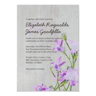 Invitaciones violetas del boda del vintage invitación 12,7 x 17,8 cm