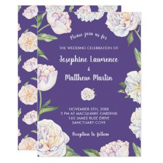 Invitaciones violetas florales del boda de Puple