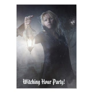 Invitaciones Witching del fiesta de la hora