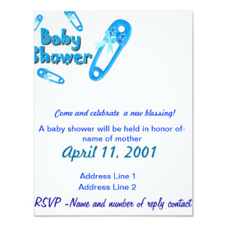 Invitar-Muchacho de la fiesta de bienvenida al Invitación 10,8 X 13,9 Cm