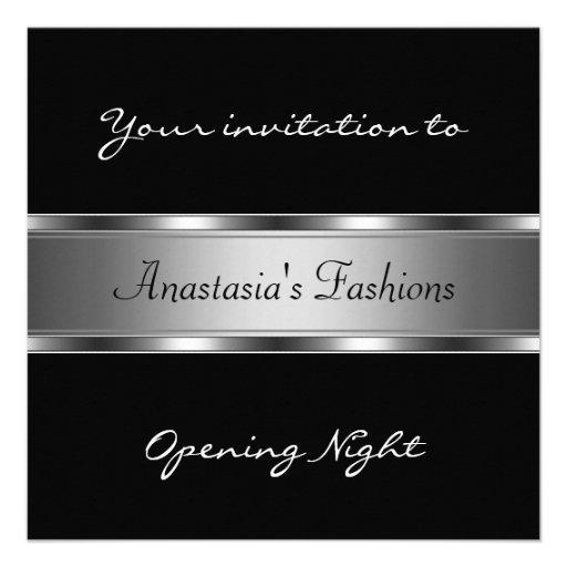 Invite a la plata negra de la noche de la inaugura anuncios personalizados