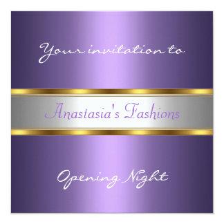 Invite a la púrpura de la noche de la inauguración invitación 13,3 cm x 13,3cm