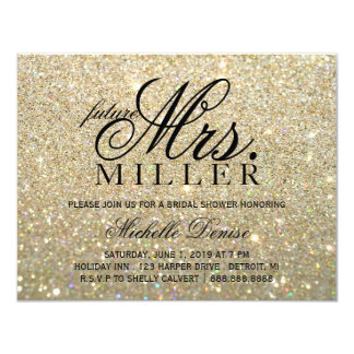 Invite - a señora futura fabulosa Bridal Shower 2 Invitación 10,8 X 13,9 Cm
