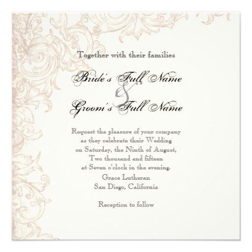 Invite, ajuste - a las alas de la colección del bo invitaciones personales