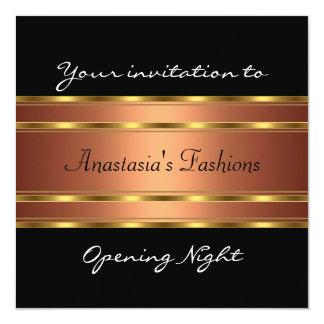 Invite al cobre negro del oro de la noche de la invitación 13,3 cm x 13,3cm