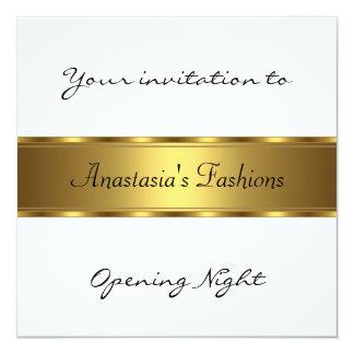 Invite al oro negro blanco de la noche de la invitación 13,3 cm x 13,3cm