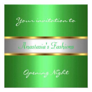 Invite al verde de la noche de la inauguración anuncio
