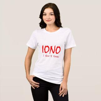 IONO I no saben Camiseta