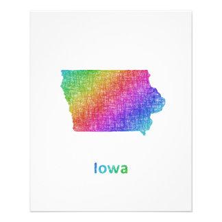 Iowa Folleto 11,4 X 14,2 Cm