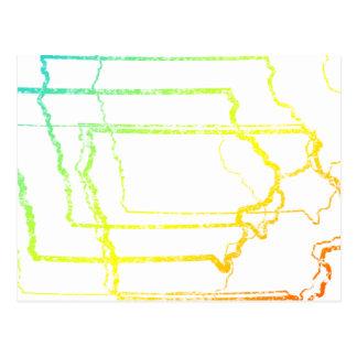 Iowa se descolora falta de definición postal