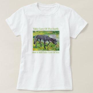 Iown - tome el cuidado de la camiseta de la tierra