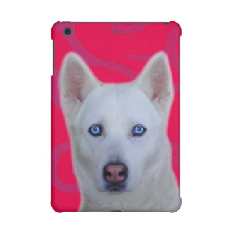 iPad blanco del husky siberiano caso mini 2 y 3